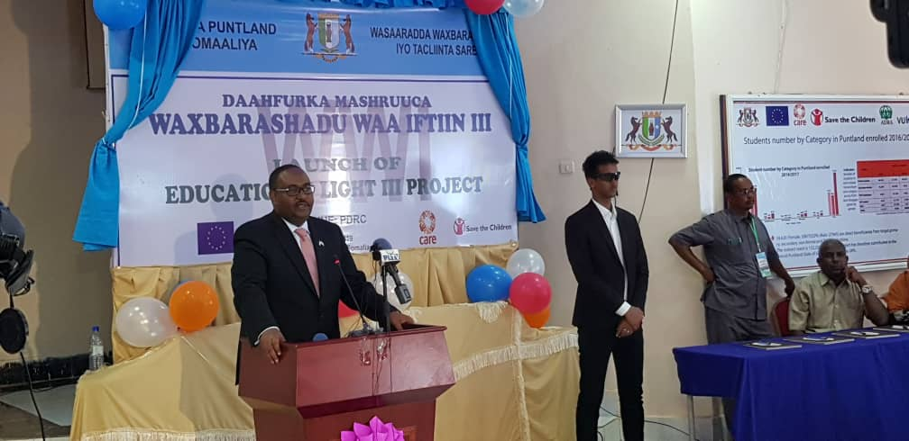 Launch of Education for Light III Project PUNTLAND SOMALIA Puntland 3