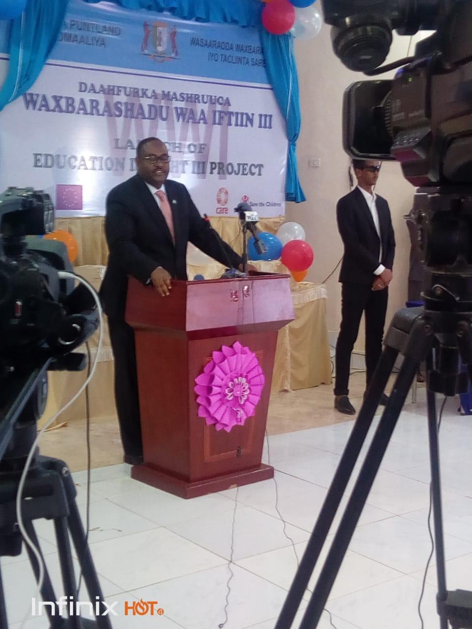 Launch of Education for Light III Project PUNTLAND SOMALIA Puntland 5
