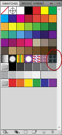 Photoshop Swatches palette for seamless textures
