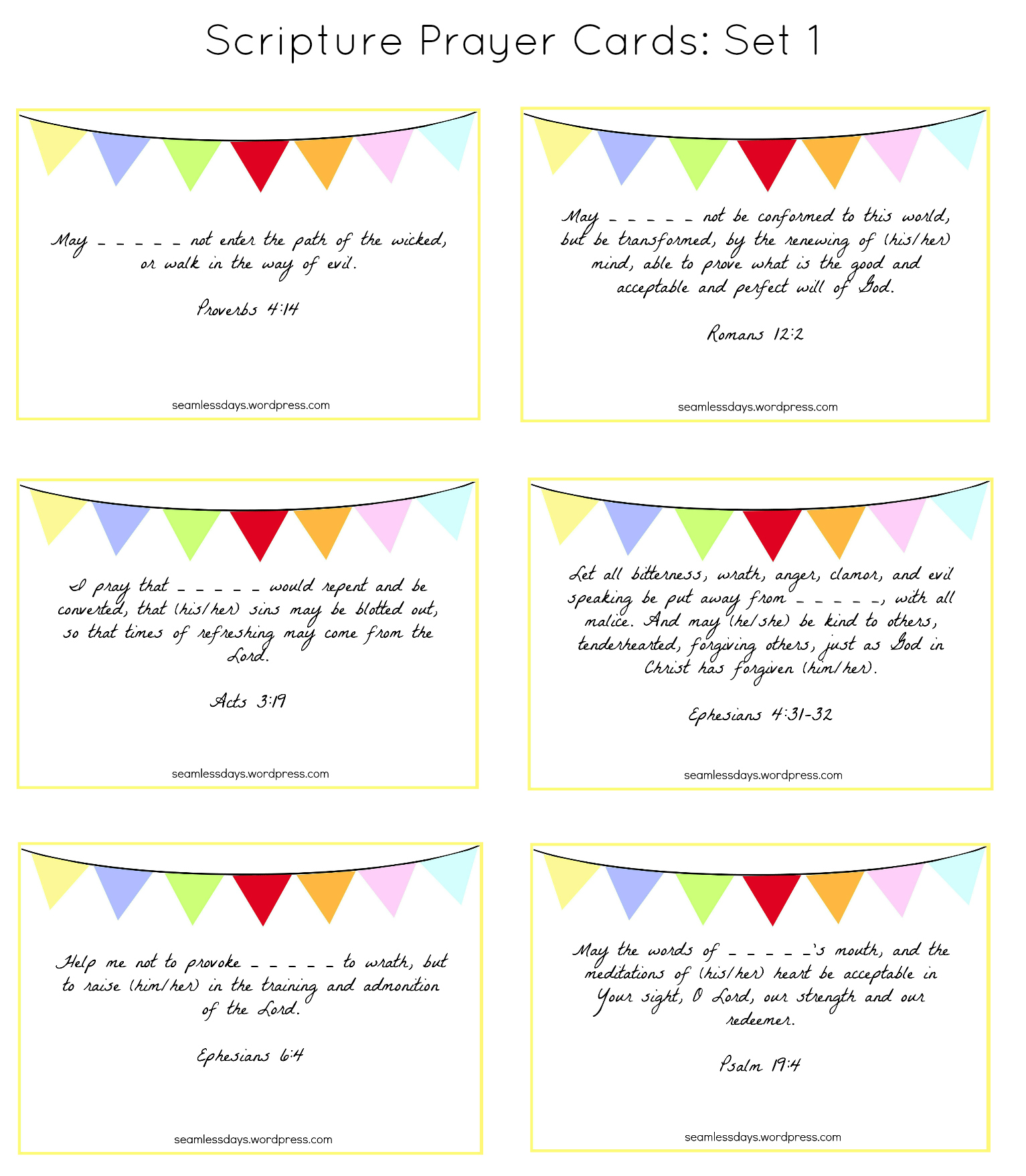 Praying For Your Children A Free Printable