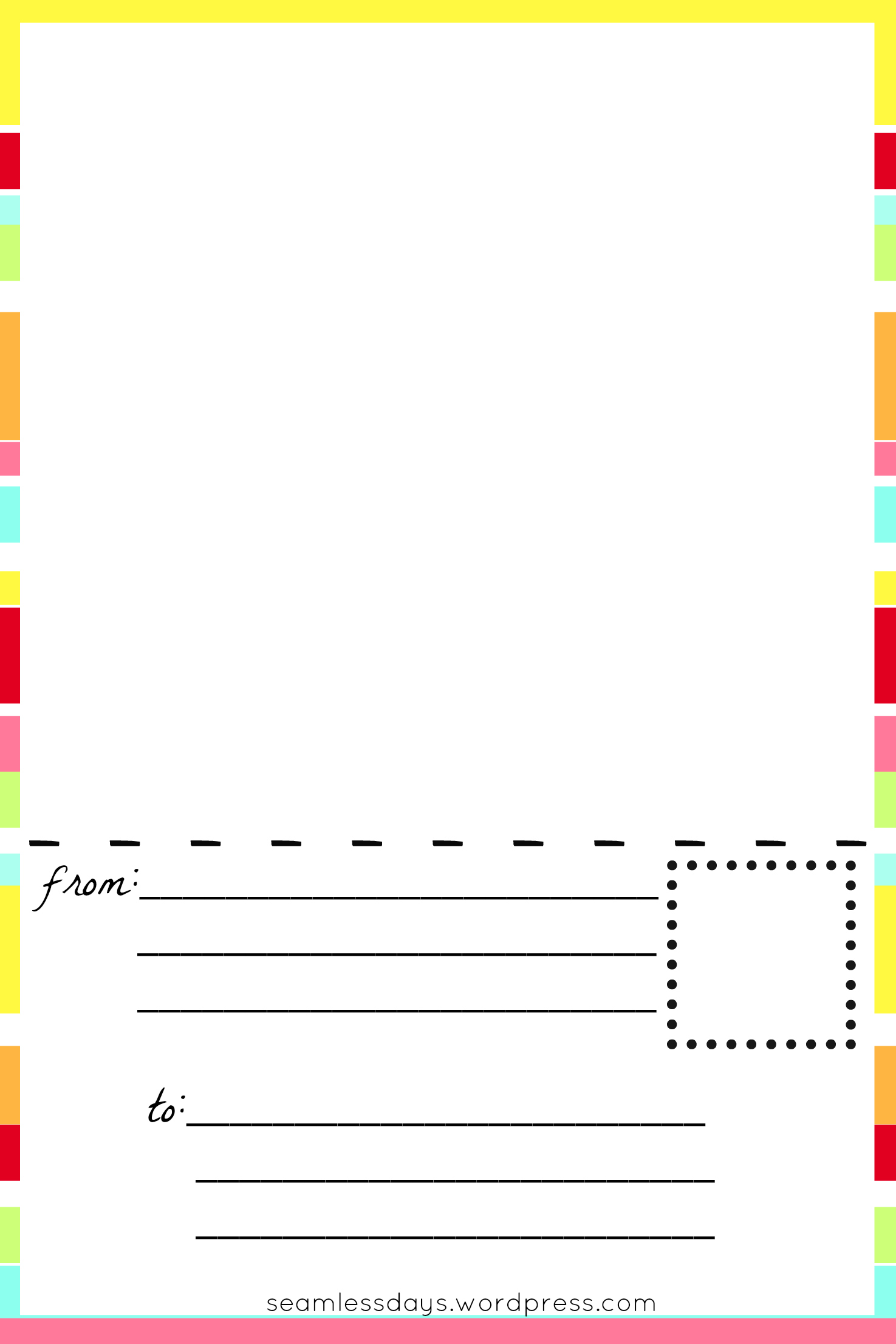 Postcards For Little Artists Free Printable