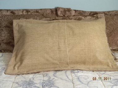 Pillow cover fold in back 10-2011