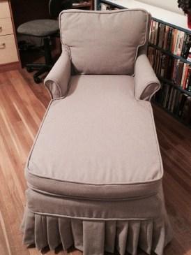 Chaise slipcovered autumn 2015