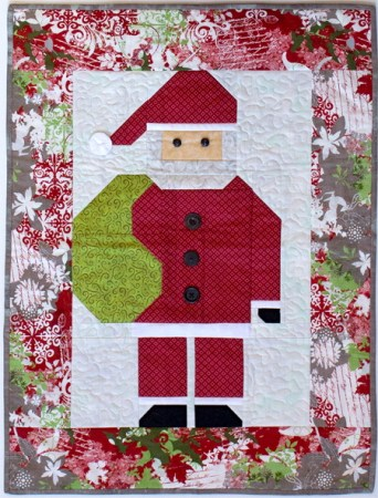 Holiday Quilting Pattern Parade: Santa quilt featured by top US quilting blog and shop, Seams Like a Dream Quilt Designs.