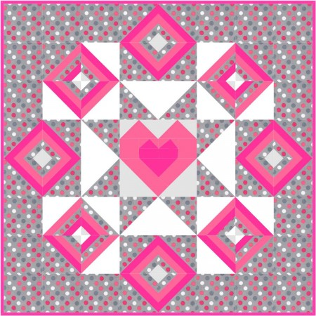 Starry hearts Wall Hanging Dots
