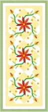 Swirly Whirly Floral Runner