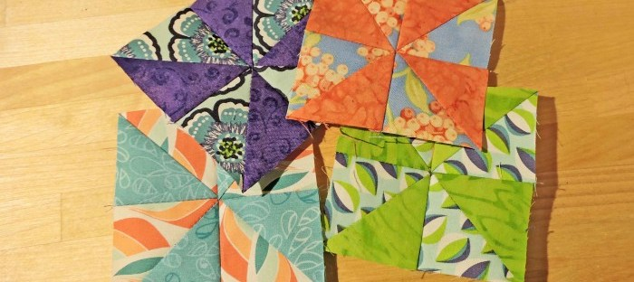 bitty pinwheel blocks