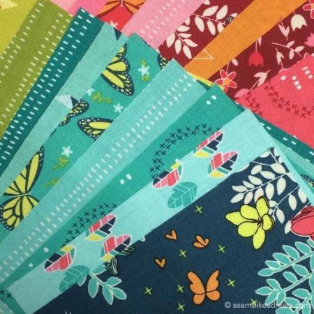 Precut Quilt Pieces: Squiggles featured by top US quilt blog and shop, Seams Like a Dream Quilt Designs: Michael Miller fabrics
