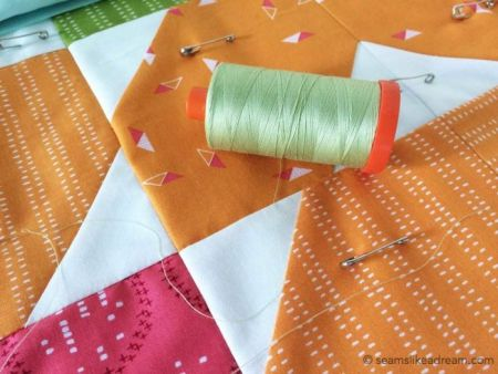 Precut Quilt Pieces: Squiggles featured by top US quilt blog and shop, Seams Like a Dream Quilt Designs: Aurifil thread