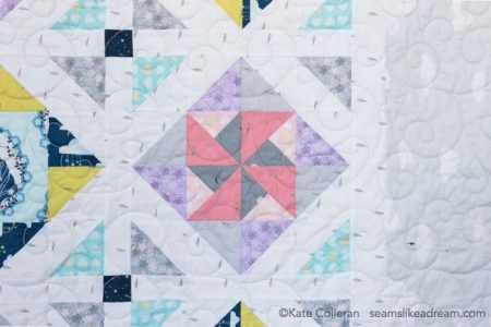 Pinwheel block using Believe fabric