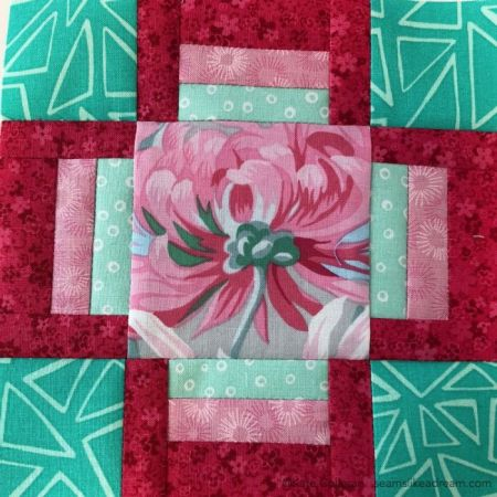100 Quilt Blocks in 100 Days featured by top US quilting blog and shop, Seams Like a Dream Quilt Designs: fussy cut center