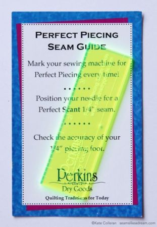 """Exploring the Basics: How to Achieve the Perfect¼"""" Seamfeatured by top US quilting and sewing shop, Seams Like a Dream Quilt designs, explains how to get the perfect ¼"""" Seam"""