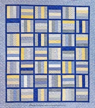 "Hop the Fence a 2 ½"" strip quilt"