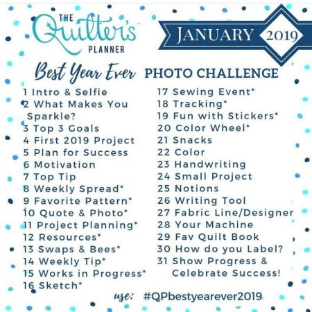 QP 2019 photo challenge list