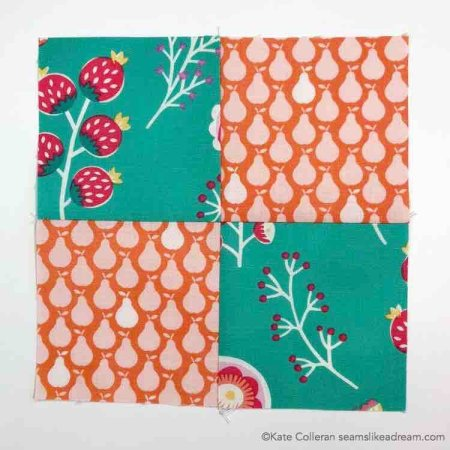 four patch block from Quilter's Planner weekly blocks