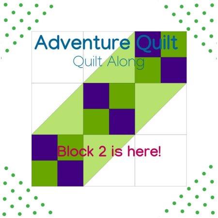 image of block 2 adventure quilt