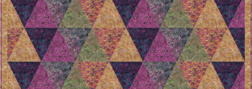 Quilting Projects for the Speakeasy Fabrics featured by top US quilting blog, Seams Like a Dream.: triangle quilt