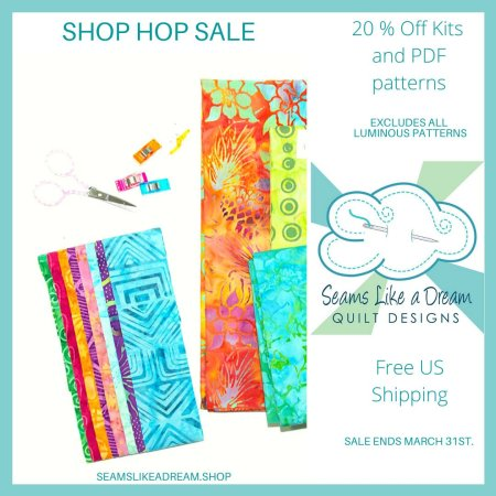 Quilt Shop Hop #3 featured by top US quilting blog and shop, Seams Like a Dream Quilt Designs