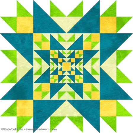 Luminous Quilt Along Project Block 6: Selene  featured by top US quilting blog and shop, Seams Like a Dream Quilt Designs.
