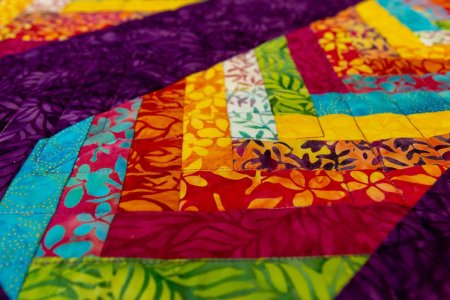 Tropical Terrace: a New Braid Quilt Pattern