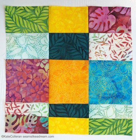 Quilting Basics: 9 Patch Block featured by top US quilting blogger, Seams Like a Dream Quilt Designs