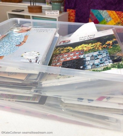 Sewing Room Tips: Quilt and Sewing Pattern Storage Ideas featured by top US quilting blog and shop, Seams Like a Dream Quilt Designs