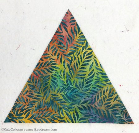Seams Like a Dream Quilt Designs, a top US quilting blog and shop shares A Quilter's Alphabet- E is for Equilateral Triangle
