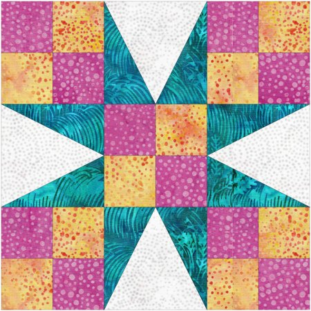 Exploring Quilting Basics, featured by top US quilting blog and shop Seams Like a Dream Quilt Designs shares how to make the Peaky and Spike quilt block!