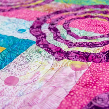 Top US quilting blog and shop, Seams Like a Dream Quilt Designs, shares a new quilts using Painted Blossoms!
