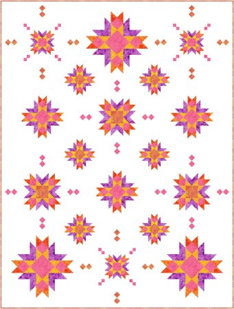 Top US quilting blog and shop, Seams Like a Dream Quilt Designs, shares her new star quilt pattern Astria!