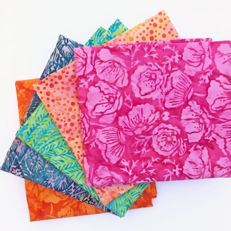 Top US quilting blog and shop, Seams Like a Dream Quilt Designs, shares about Painted Blossoms batik fabrics!