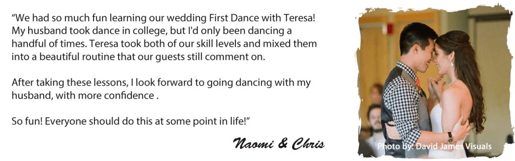 Teresa Sigmon, ballroom dance instructor.  Photo by David James Visuals, http://www.davidjamesvisuals.com