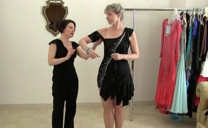 Turn a store bought dress into a competition ballgown, Sew Like a Pro™