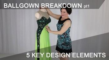 5 key design elements for a competition Dancesport ballgown