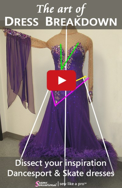 Dress Breakdown: dissect a competition Dancesport ballgown