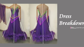 Dress breakdown competition Dancesport gown