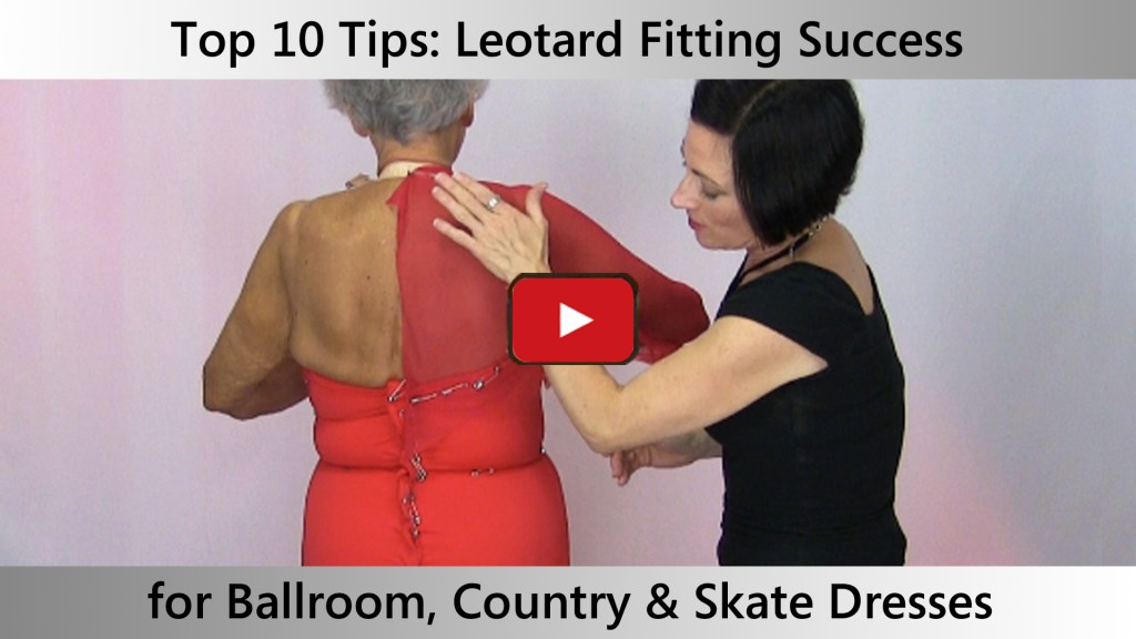 How to do perfect leotard fittings on women's competition Ballroom, Country, Skate dresses.