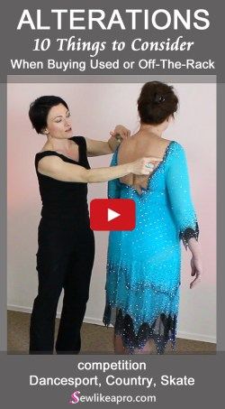How to buy the best used or off-the-rack Dancesport, Country or Skate dress - buy Latin dance dress
