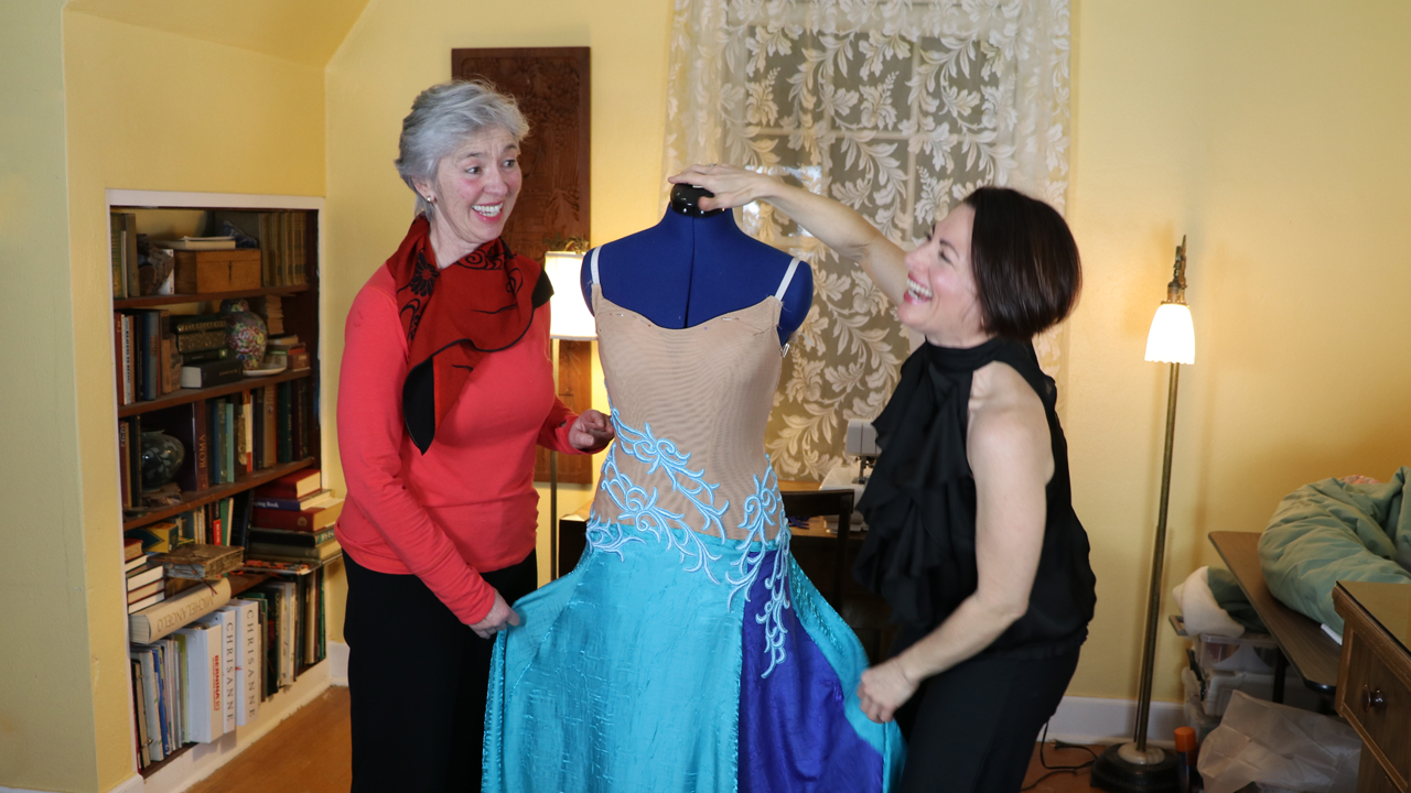 How To Finish A Sewing School Member's Ballgown