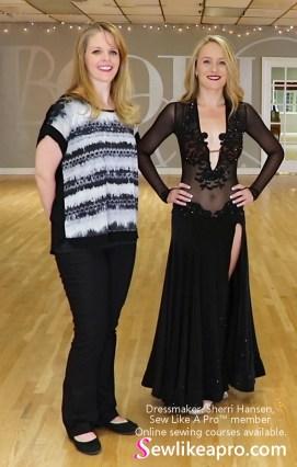 smooth dance dress, ballgown, mesh