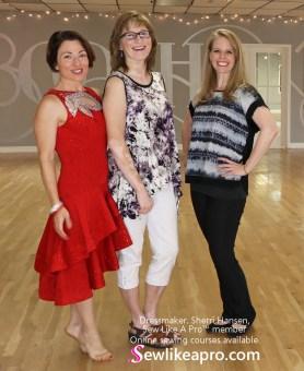 smooth dance dress, ballgown, sew like a pro member Sherri Hansen