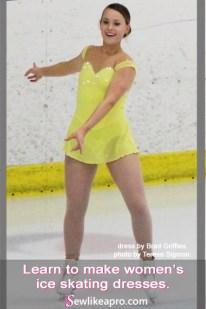 sweetheart neckline, feminine ice skating dress