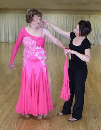 lace ballroom dance dress, shoulder elastic, guipure lace,