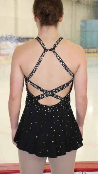 crisscross dress ice skating costume