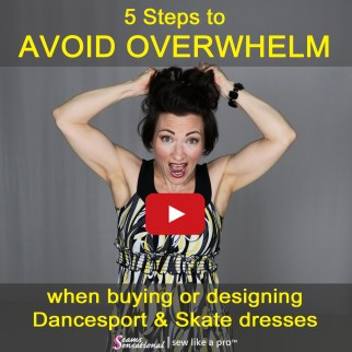 avoid overwhelm when shopping for a ballroom dancing dress, competition ballroom dance costume