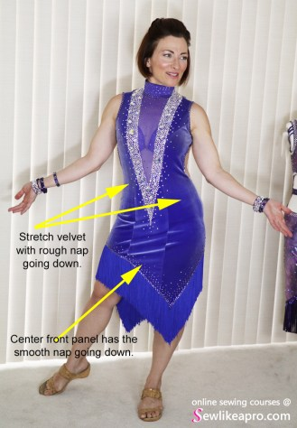 fringe velvet ballroom Dancesport fashion 3