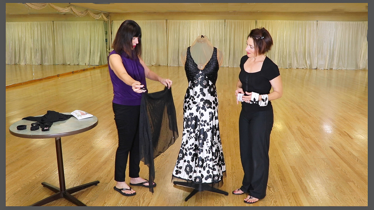 Vogue Pattern Used By Novice Dressmaker To Create Ballroom Dance Dress