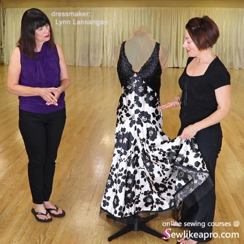 Vogue pattern ballroom dance dress, crinoline hem, U Can Dance Studio