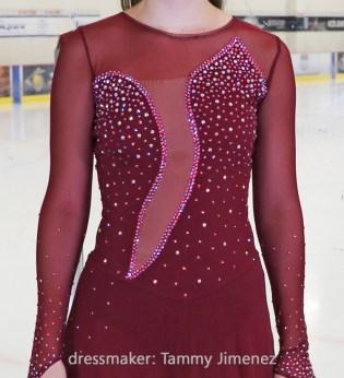 keyhole back design ice dance dress, Alyssa, Tammy Jimenez, Ice Den Chandler,