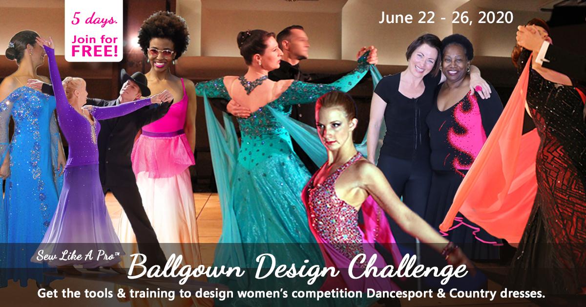 Ballgown Design Challenge dress design women compete Dancesport ballroom Country dance